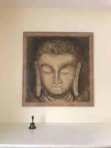 Buddha, der Erwachte, darf im Yogahaus nicht fehlen.
