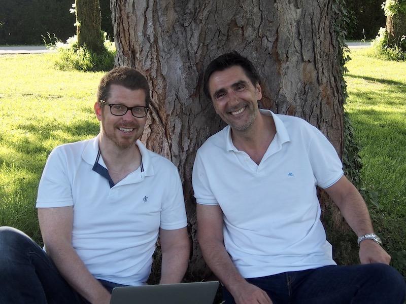 Hannes Steiner und Martin Blank, die Gründer von story.one