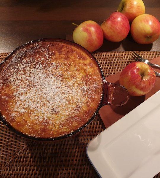 Apfel-Reisauflauf