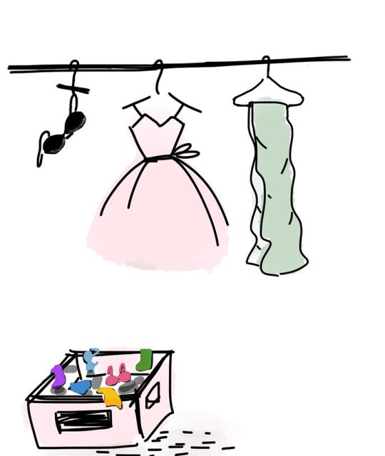 Kleiderkasten aufräumen